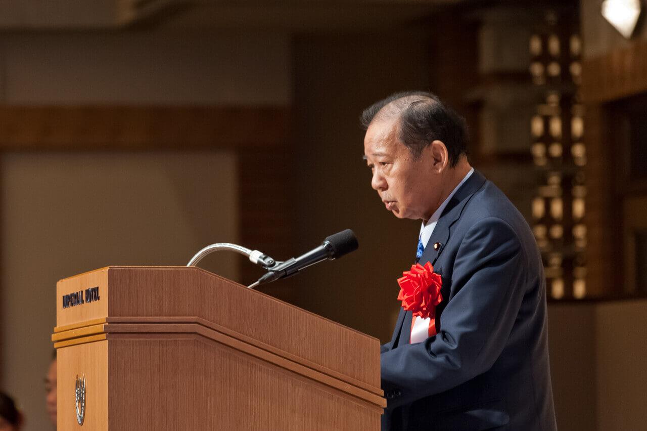ご来賓挨拶 自由民主党 幹事長 二階 俊博様