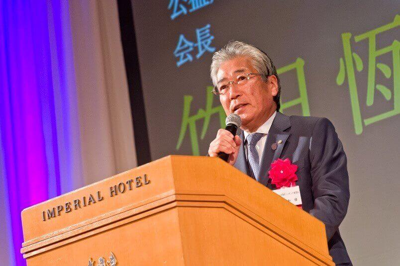来賓ご挨拶 公益財団法人日本オリンピック委員会 会長 竹田 恆和様